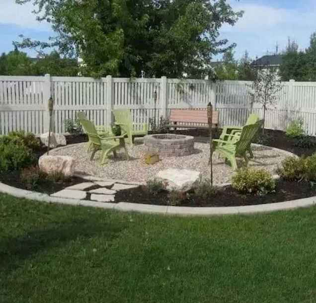 100 Easy Cheap Backyard Fire Pit Seating Area Design Ideas