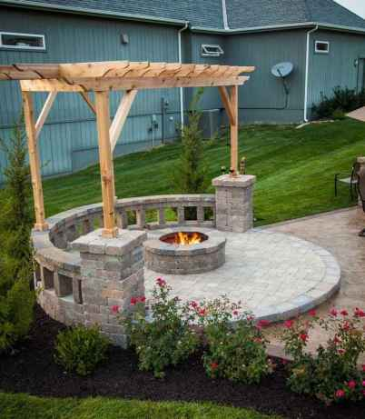 35 Easy Cheap Backyard Fire Pit Seating Area Design Ideas