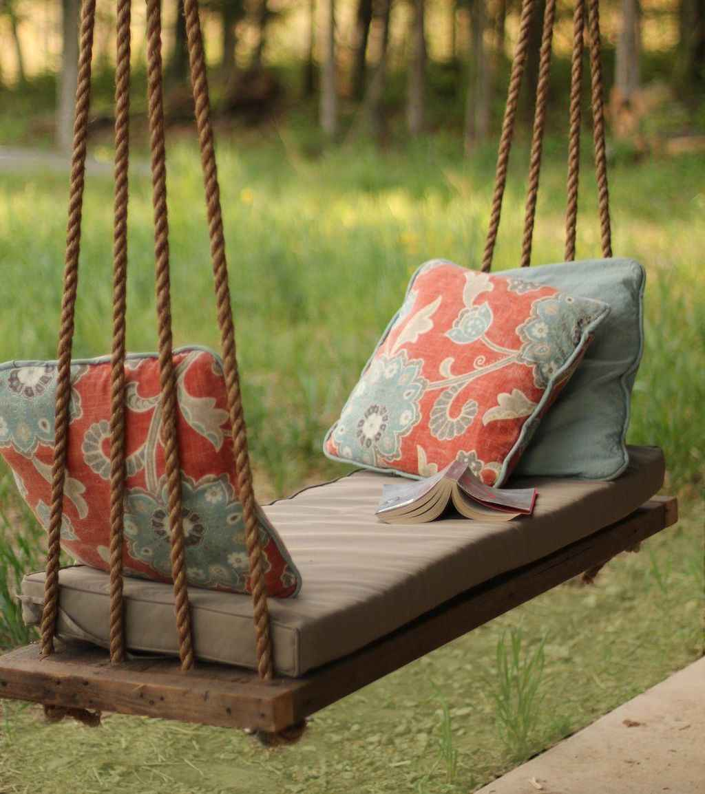 49 Awesome Farmhouse Porch Swing Plans Ideas