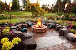55 Easy Cheap Backyard Fire Pit Seating Area Design Ideas