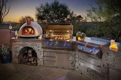 57 Awesome Outdoor Kitchen and Grill Backyard Ideas for Summer