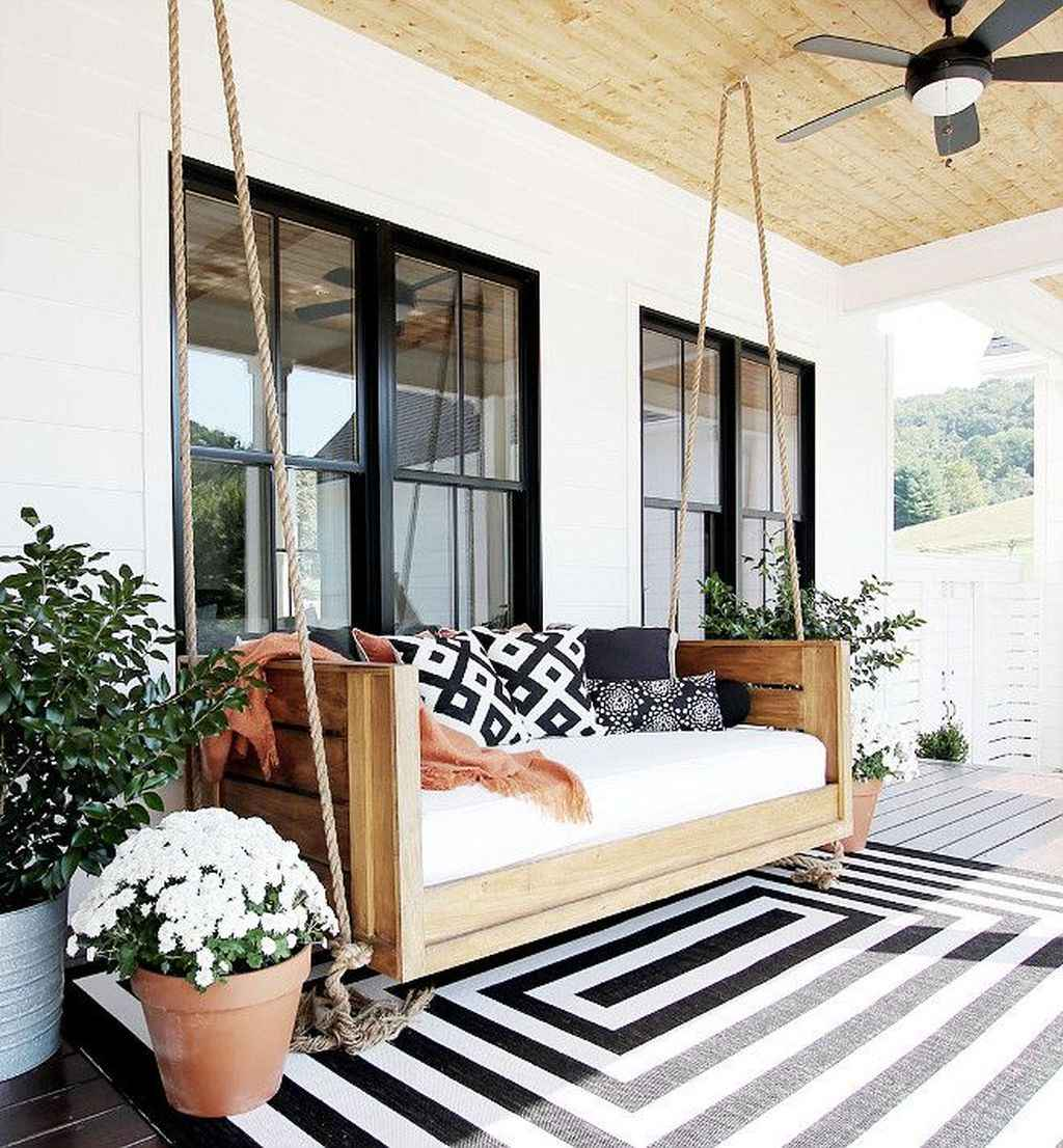 58 Awesome Farmhouse Porch Swing Plans Ideas