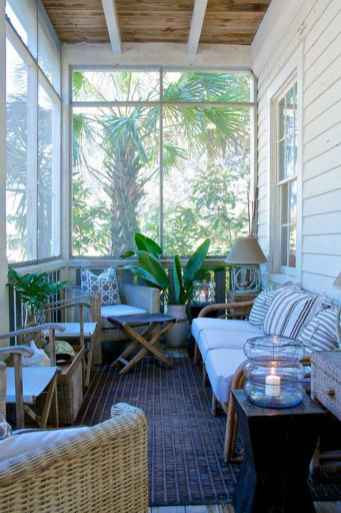 58 Small Front Porch Seating Ideas for Farmhouse Summer