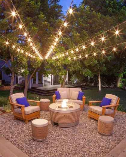 63 Easy Cheap Backyard Fire Pit Seating Area Design Ideas