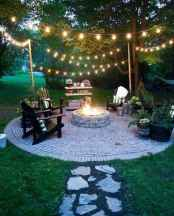 69 Easy Cheap Backyard Fire Pit Seating Area Design Ideas