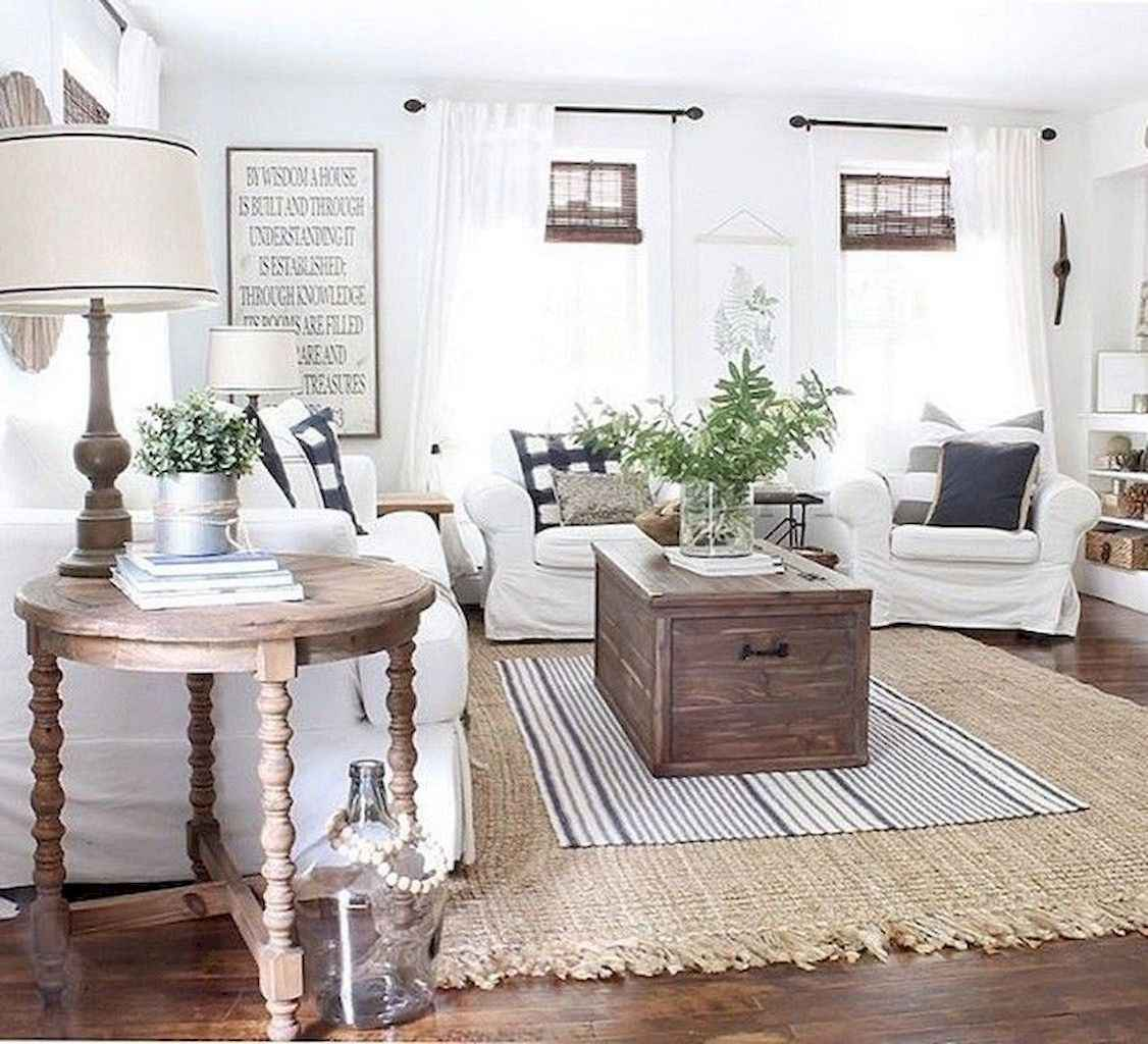 78 Modern Farmhouse Living Room Curtains Decor Ideas