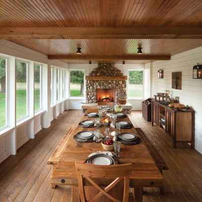 79 Gorgeous Farmhouse Screened In Porch Design Ideas for Relaxing