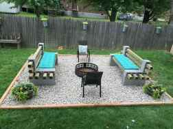 85 Easy Cheap Backyard Fire Pit Seating Area Design Ideas