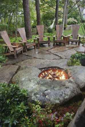 96 Easy Cheap Backyard Fire Pit Seating Area Design Ideas