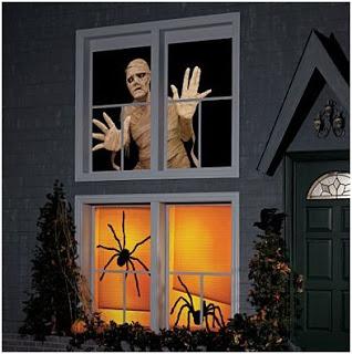 decorar las ventanas en halloween