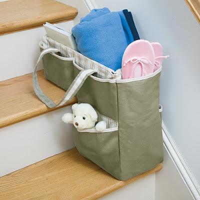 cómo organizar y guardar cosas en una escalera