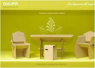 muebles de carton decoraron castilla y leon en fitur 2010