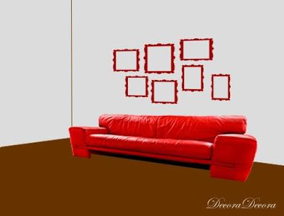 C mo colgar cuadros sobre el sof - Paredes pintadas a cuadros ...