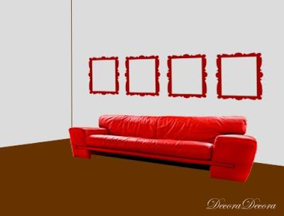 ideas para colgar cuadros sobre un sofa