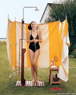 decorar la ducha de la piscina