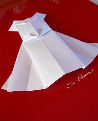 decora una boda con origami.