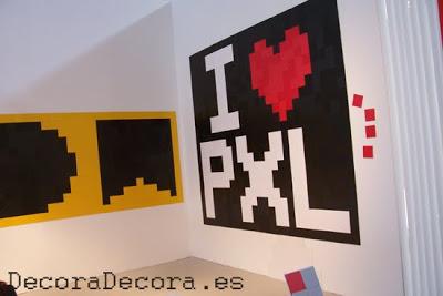 decorar las paredes con pixels
