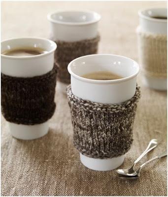 decorar vasos y tazas para invierno