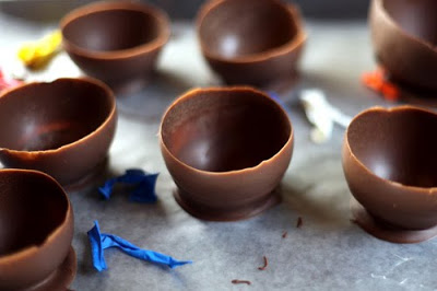 como hacer vasos de chocolate para chupitos decoracion nochevieja