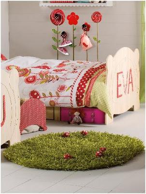 La alfombra 39 setas para decorar una habitacion de ni a - Alfombra nina ...