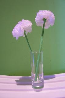 flores hechas de papel