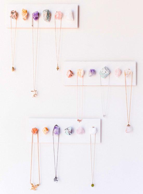 Idea para organizar collares.