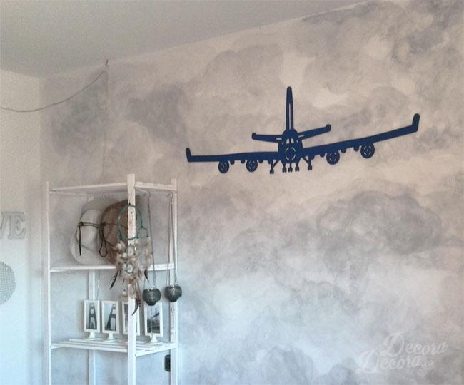 Avión adhesivo textil