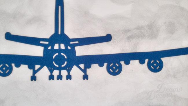 Avión de tela para decorar paredes