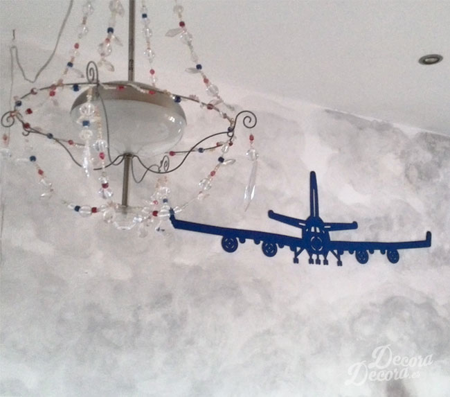 Adhesivo decorativo avión
