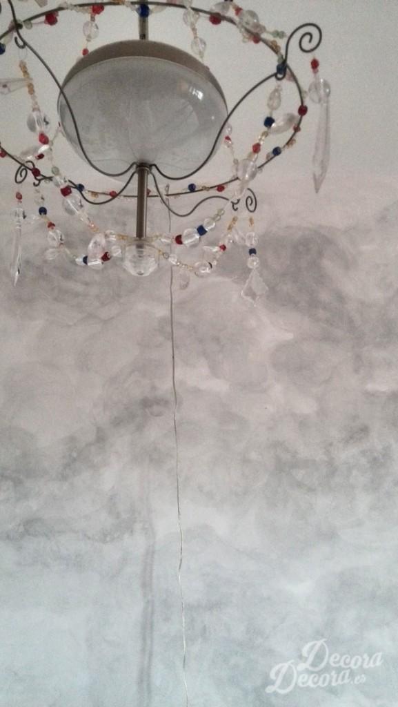 Nubes en una pared