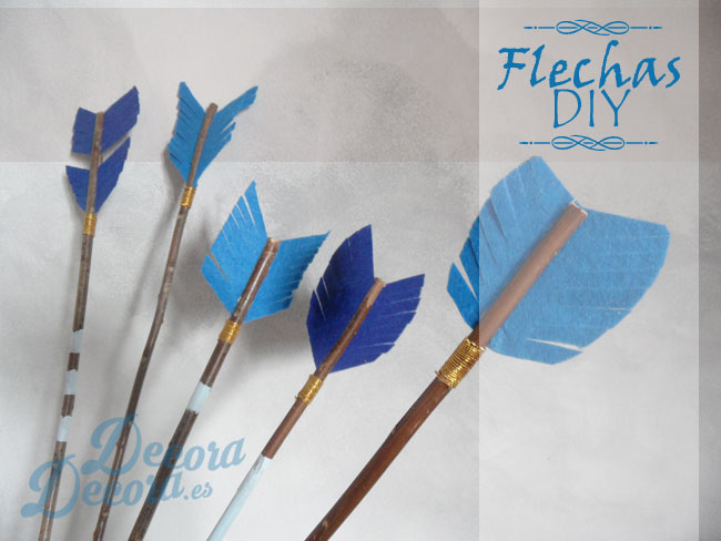 Decorativas flechas hechas a mano