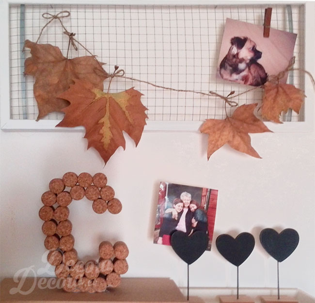 Idea para decorar en otoño