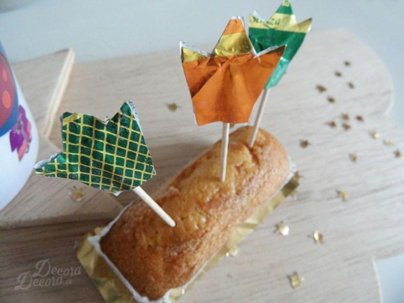 Decoración para el desayuno en el Día de Reyes