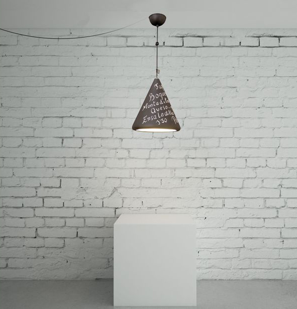 Lámpara infantil de pizarra