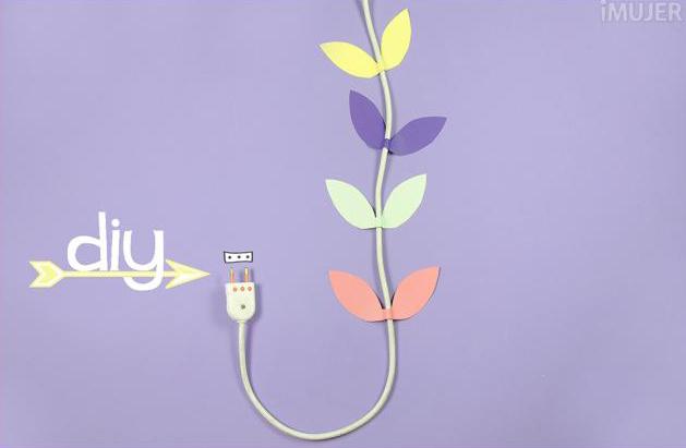 idea para disimular cables