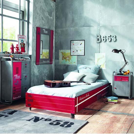Dormitorio juvenil industrial