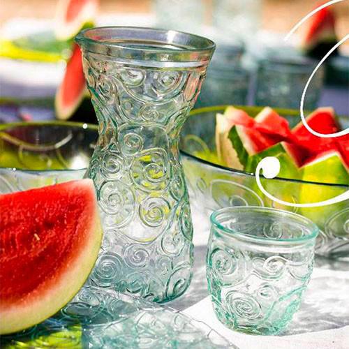 Vasos de cristal reciclado