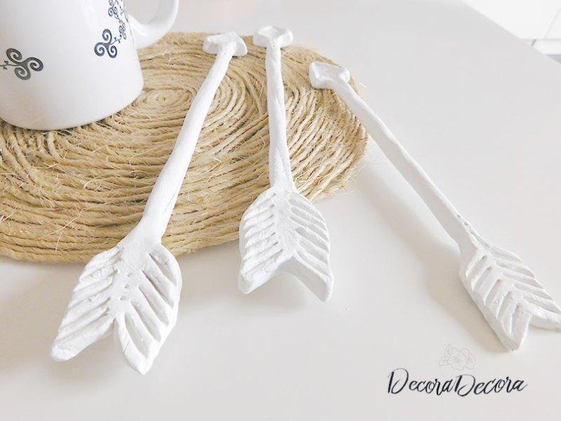 Flechas DIY de arcilla