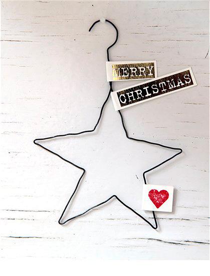 Adornos de Navidad hechos con alambre