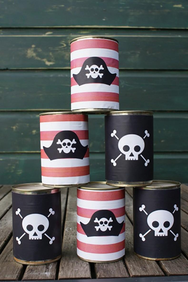 juego de verano con latas