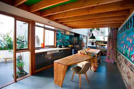 Estilo rstico Vigas de madera en la cocina  Decoradoras Decocasa