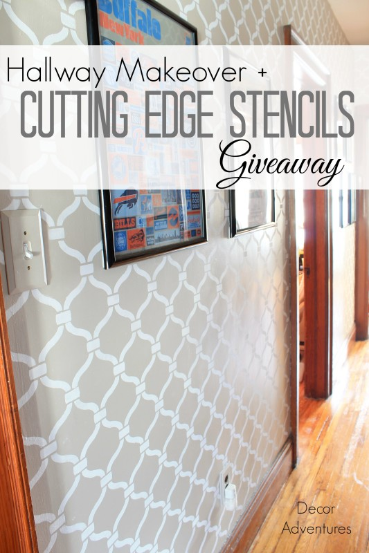 Hallway Makeover + Cutting Edge Stencil Giveaway » Decor