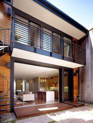 pintadas casa modernas rejas fachadas balcon colores exteriores dos pisos casas madera exterior negro grises decoraideas