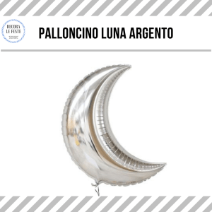 palloncino luna argento