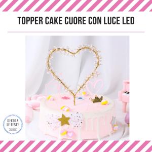 topper cake con luci