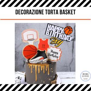 decorazione torta basket