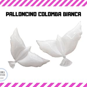 palloncini colomba bianchi