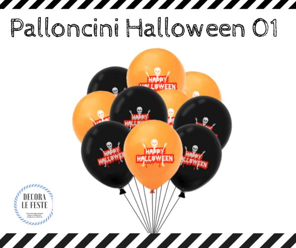 palloncini colorati halloween