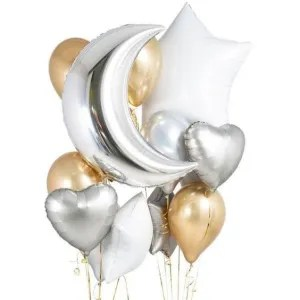 palloncino cuore argento satinato