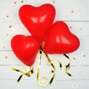 palloncini cuor rosso